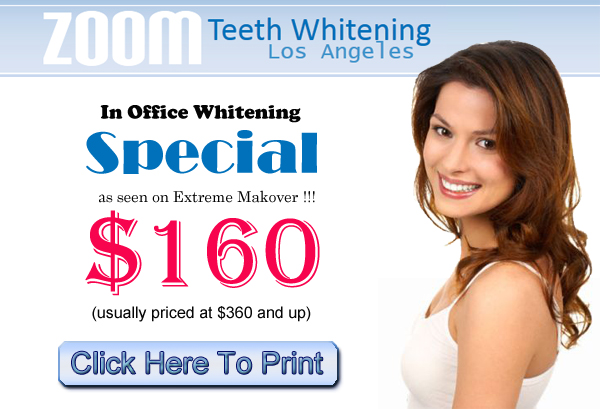 Zoom Teeth Whitening Special In Los Angeles